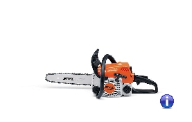 Low vibration, low emission STIHL chain saw for property maintenance. Extensive features including a long-life air filter system and anti-vibration system. Ideal for sawing firewood and felling small trees.