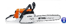 This professional grade chain saw has an excellent power-to-weight ratio and an improved air filter system. Other user-friendly features include side-access chain tensioner, IntelliCarb compensating carburetor, translucent fuel tank and toolless fuel and oil caps.