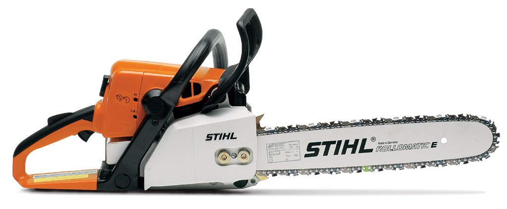 A step up from the MS 230, this model has an excellent power-to-weight ratio. Standard features include a side-access chain tensioner for easy chain adjustment, STIHL Quickstop inertia chain brake, Master Control Lever and anti-vibration system.
