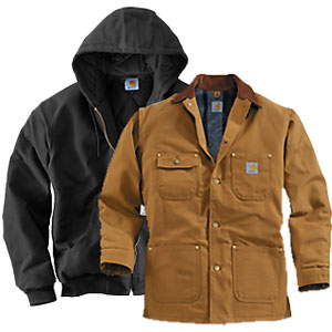 Black and Brown Carhartt coats