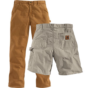 Carhartt work pants and shorts