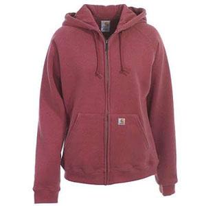 Rose coloured Carhartt women's hoodie