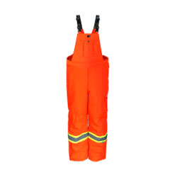 Orange reflective Viking bib rain pants