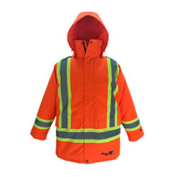 Orange reflective Viking rain jacket