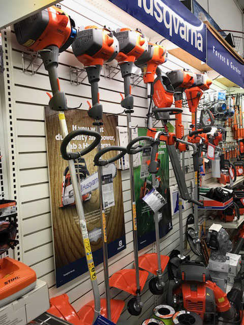 Display of Husqvarna Trimmers