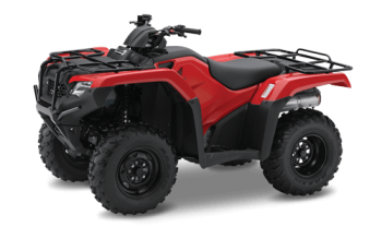 Red Honda TRX420 ATV