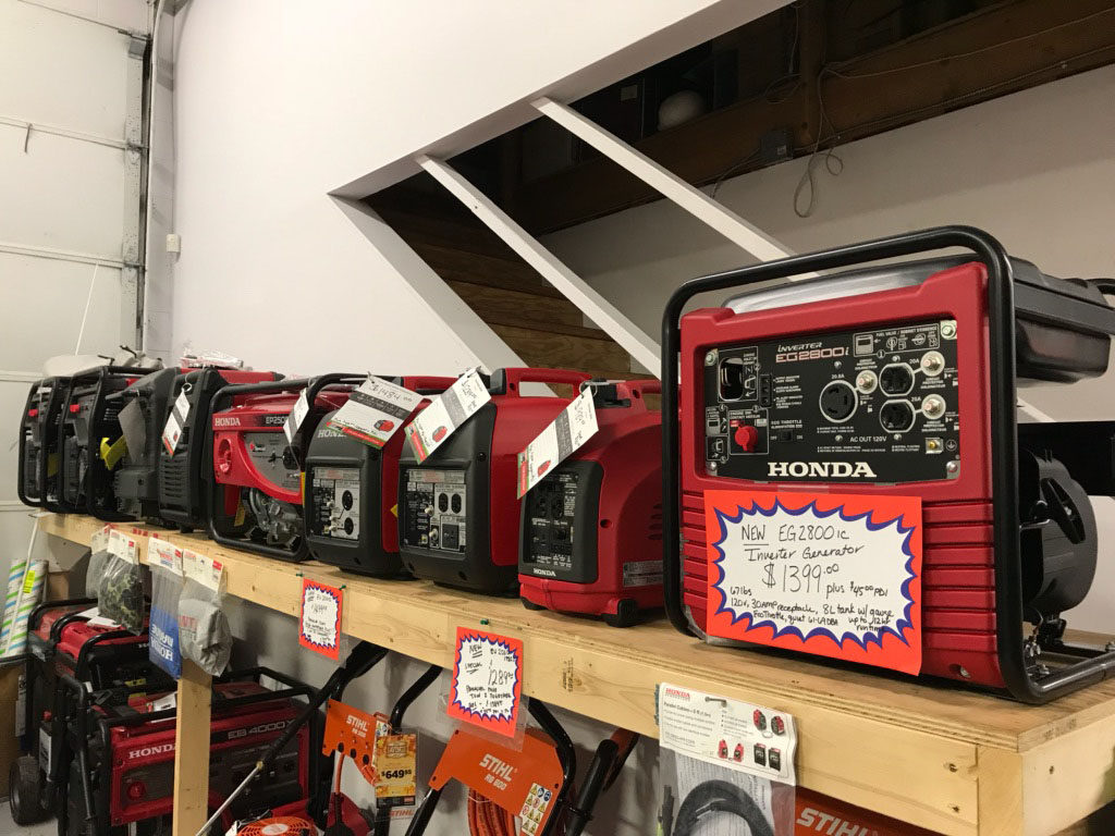 Display of Honda Generators