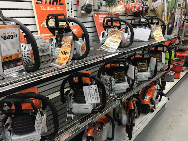 Display of Stihl Chainsaws